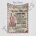 Custom Blanket Personalized Name To My Loving Mom Letter Blanket 2 - Gift For Mom
