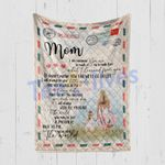 Custom Blanket Personalized Letter To My Mom You Are The World - Mother's Day Gift - Quilt Blanket