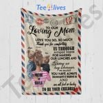 Custom Blanket Personalized Letter To Our Loving Mom - Mother's Day Gift