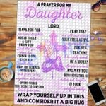 Custom Jigsaw Puzzle Prayer Chris Cross Jesus To My Daughter  - Gift For Daughter