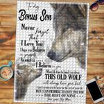 Custom Jigsaw Puzzle Wolf To My Bonus Son - Gift For Bonus Son