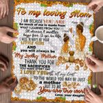 Personalized Gift For Mom Custom Jigsaw Puzzle Bride And Flowers To My Loving Mom - Mothers Day Gift