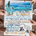 Personalized Gift For Mom Custom Jigsaw Puzzle On The Beach To My Loving Mom - Mothers Day Gift
