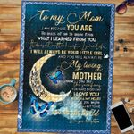 Custom Jigsaw Puzzle Moon And Butterflies To My Loving Mom - Mothers Day Gift