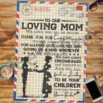 Custom Jigsaw Puzzle Letter To Our Loving Mom - Mothers Day Gift