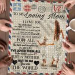 Personalized Mother's Day Gifts Custom Letter To My Mom Jigsaw Puzzle