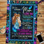 Personalized Mother's Day Gifts Custom Name Butterfly From Daughter To My Loving Mom Jigsaw Puzzle