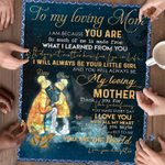 Personalized Mother's Day Gift Custom Name From Daughter To My Loving Mom Jigsaw Puzzle