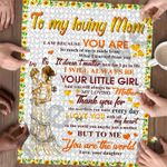Personalized Mother's Day Gifts Custom Name To My Loving Mom Jigsaw Puzzle