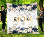 Personalized Mother's Day Gift Custom Name We Love You Mom - Quilt Blanket