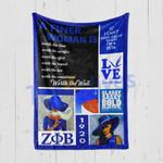 Custom Blankets Zeta Phi Beta Blanket - Perfect gift for ZOB - Fleece Blanket