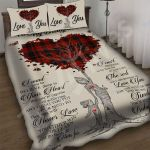 Custom Bedding To My Daughter Tree Heart Bedding Set - Gift For Daughter