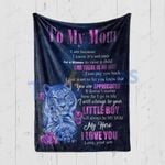 Custom Blanket To My Mom Tiger Blanket - Mothers Day Gift From Daughter To Mom Quilt Blanket