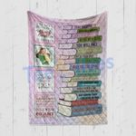 Custom Blanket To My Daughter Book Collection Blanket - Gift For Daughter - Quilt Blanket