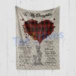 Custom Blanket To My Daughter Tree Heart Blanket - Gift For Daughter - Quilt Blanket