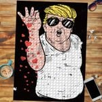 Custom Jigsaw Puzzle Nurse Trump Hearts - Gift For Valentines Day