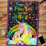 Personalized Name Custom Jigsaw Puzzle Unicorn - Gift For Kids