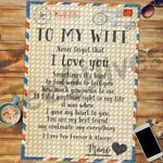 Personalized Name Custom Jigsaw Puzzle Letter To My Wife - Gift For Wife