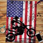 Custom Jigsaw Puzzle 4th of July Dirt Bike American Flag