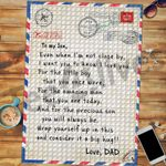 Custom Jigsaw Puzzle Letter Dad To My Son - Gift For Son