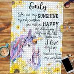 Personalized Name Custom Jigsaw Puzzle Unicorn - Gift For Girls