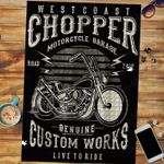 Custom Jigsaw Puzzle West Coast Chopper Motorcycle