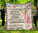 Personalized Mother's Day Gift Custom Blanket Letter From Daughter To My Loving Mom - Quilt Blanket