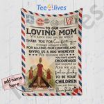 Custom Blanket Personalized Letter To Our Loving Mom 1 - Mother's Day Gift