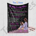 Personalized Mother's Day Gift Custom Name Blanket From Daughter To My Loving Mom Blanket