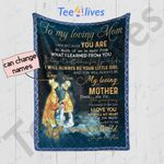 Personalized Mother's Day Gift Custom Name From Daughter To My Loving Mom Quilt Blanket