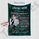 Personalized Mother's Day Gift Custom Blanket From Daughter To My Loving Mom