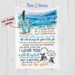Personalized Mother's Day Gift Custom Blanket On The Beach From Daughter To My Loving Mom