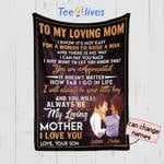 Personalized Mother's Day Gift Custom Blanket From Son To My Loving Mom