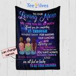 Personalized Mother's Day Gift Custom Blanket From Daughters To Our Loving Mom - Quilt Blanket