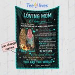 Personalized Mother's Day Gift Custom Blanket From Daughter To My Loving Mom Blanket