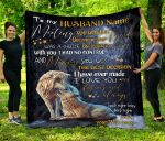 Personalized Gift For Husband Custom Name Wolf Blanket
