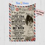 Personalized Mother's Day Gift Custom Blanket Letter From Daughter To My Mom - Quilt Blanket
