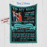 Personalized Mother's Day Gift Custom Blanket From Son To My Mom - Quilt Blanket