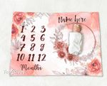 Personalized Baby Blanket Newborn Photo Floral Custom Baby Blanket 2
