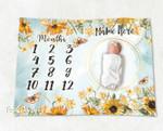 Personalized Baby Blanket Newborn Photo Floral Custom Baby Blanket 28