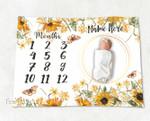 Personalized Baby Blanket Newborn Photo Floral Custom Baby Blanket 29