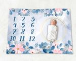 Personalized Baby Blanket Newborn Photo Floral Custom Baby Blanket 39