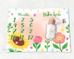 Personalized Baby Blanket Newborn Photo Floral Custom Baby Blanket 43