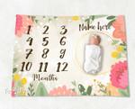 Personalized Baby Blanket Newborn Photo Floral Custom Baby Blanket 47