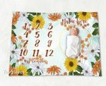 Personalized Baby Blanket Newborn Photo Floral Custom Baby Blanket 56