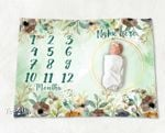 Personalized Baby Blanket Newborn Photo Floral Custom Baby Blanket 63