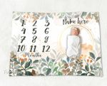Personalized Baby Blanket Newborn Photo Floral Custom Baby Blanket 66