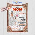 Personalized Mother's Day Gift Custom Blanket Balloons From Daughter To My Mom - Quilt Blanket