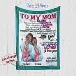 Personalized Mother's Day Gift Custom Blanket From Daughter To My Mom