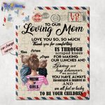 Personalized Mother's Day Gifts Custom Letter From Daughters To Our Loving Mom Jigsaw Puzzle